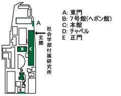 アクセスマップ(学内)