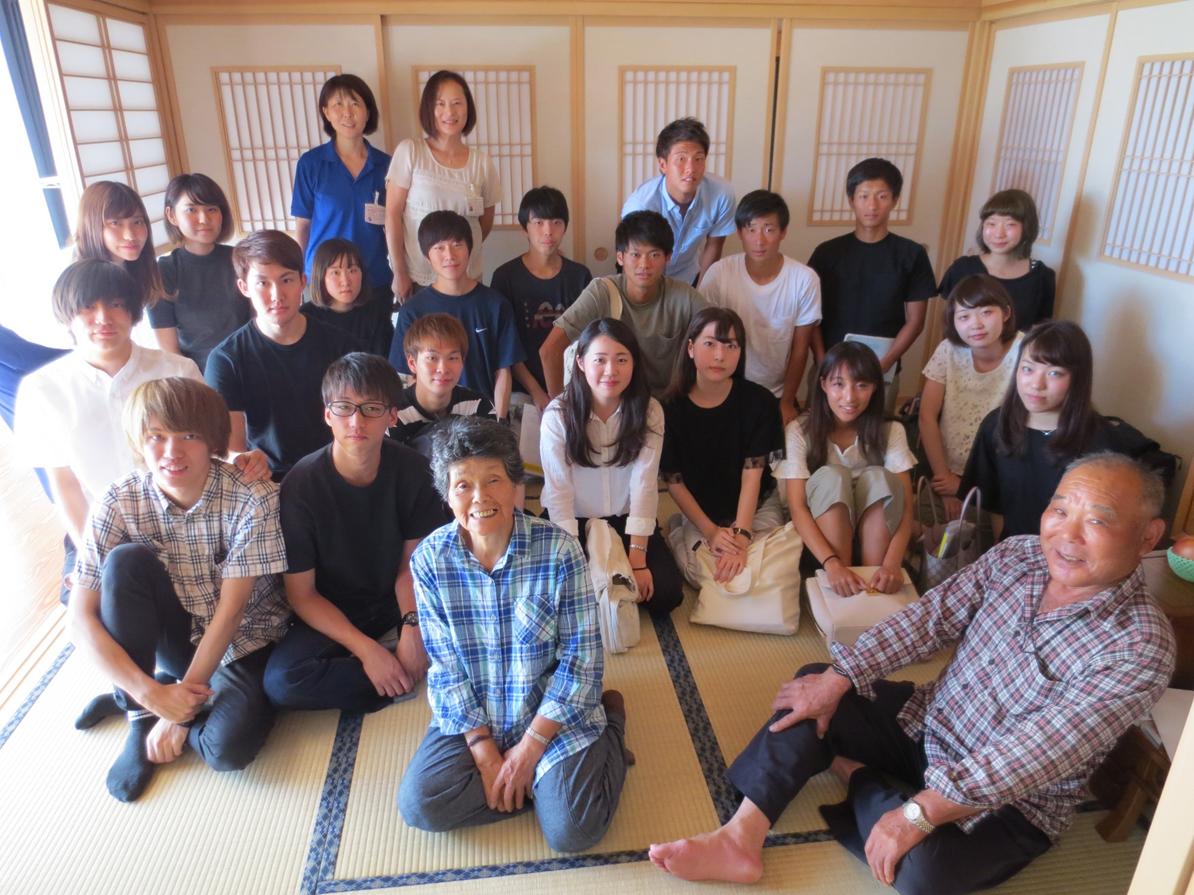 (写真4)葛尾村での原発事故帰還者へのヒアリング調査(2)