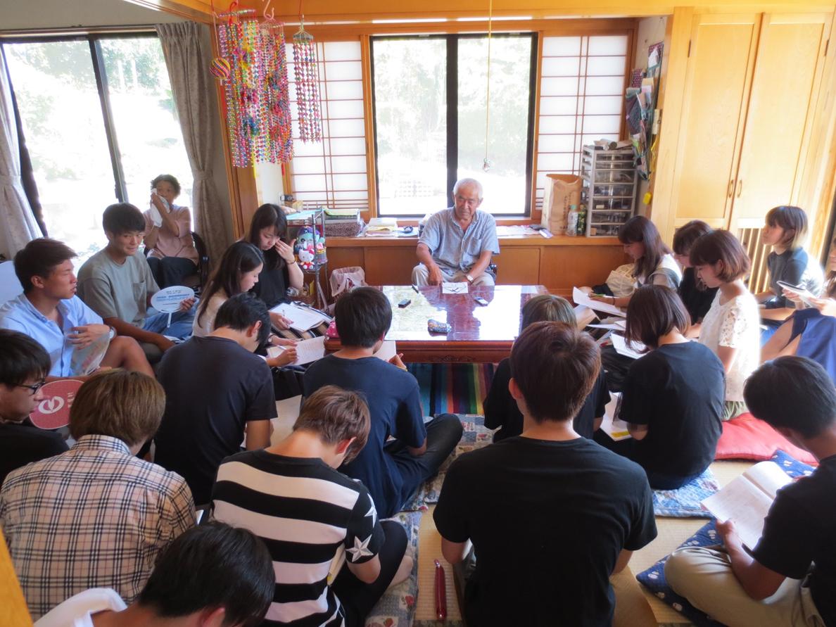 (写真5)葛尾村での原発事故帰還者へのヒアリング調査(3)