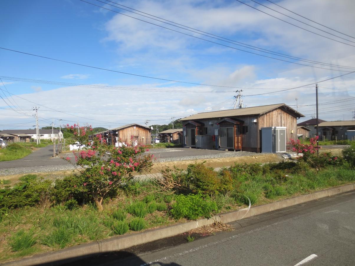 (写真7)いわき市における楢葉町の仮設住宅