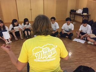 学生たちで組み立てた、目的のある遊びを子どもたちと一緒に。